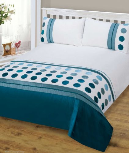 TEAL BLUE MIX COLOUR STYLISH MODERN DESIGN BEDDING QUALITY DUVET QUILT COVER